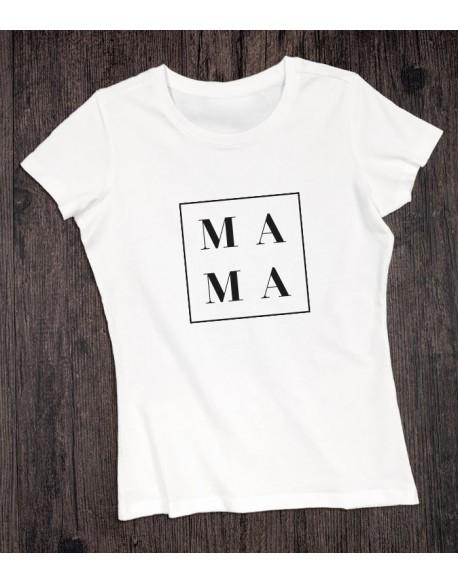 Koszulka dla mamy MAMA biała