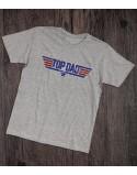 Koszulka dla taty TOP DAD szara