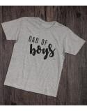 Koszulka dla taty DAD OF Boys szara