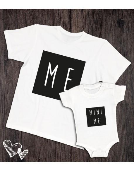 Koszulka i body/koszulka dla taty i dziecka ME biała