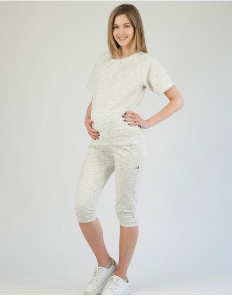 OUTLET/ Spodnie dresowe ciążowe Pieprz i sól