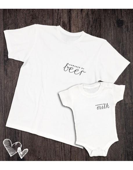 Koszulka i body/koszulka dla taty i dziecka powered by