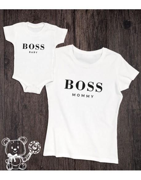 Koszulka i body/koszulka dla mamy i dziecka BOSS