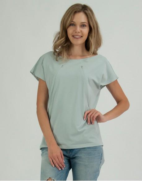 T-shirt do karmienia piersią ALLDAY smoke mint