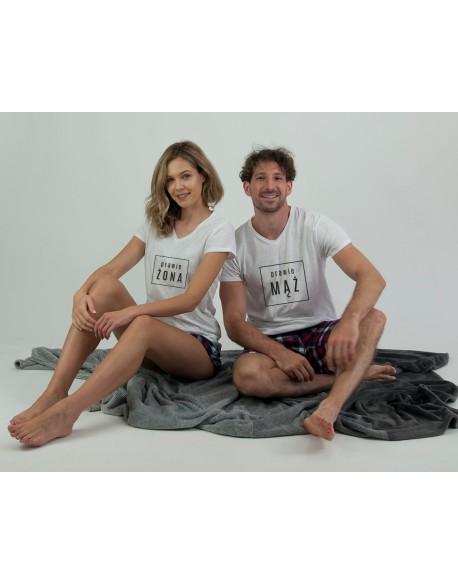 Piżamy dla pary Prawie krata