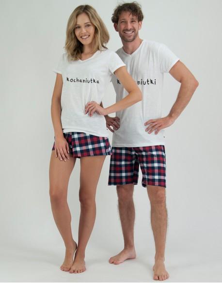 Piżamy dla pary Kochaniutcy krata