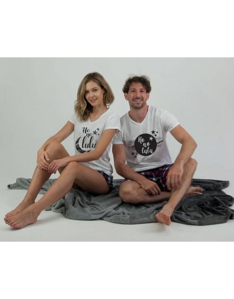 Piżamy dla pary HoNoLulu krata