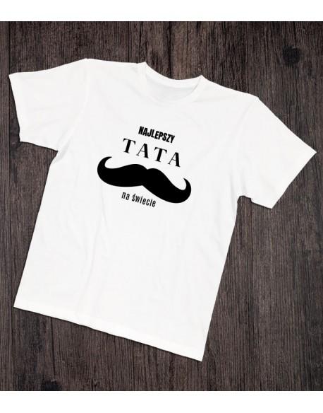 Koszulka dla taty Najlepszy tata na świecie biała