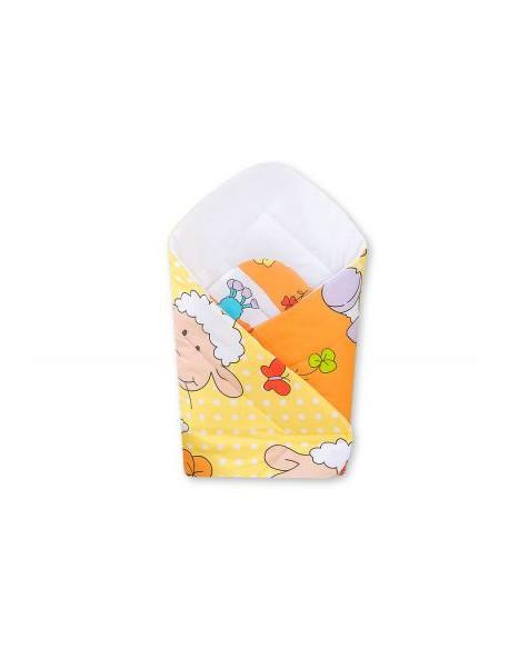 Rożek z usztywnieniem- Basic owieczki pomarańczowo-żółte