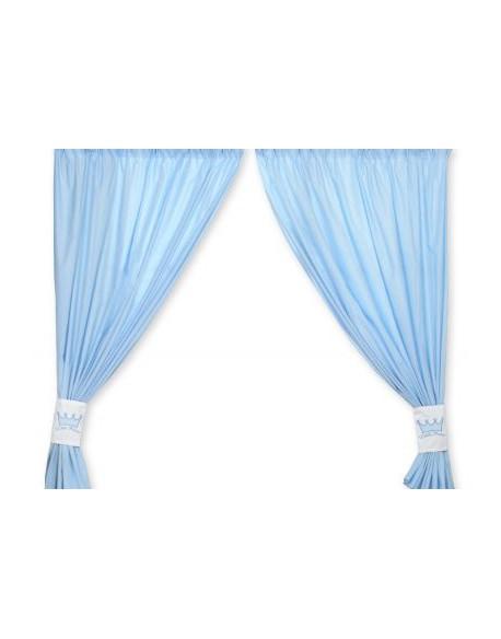 Zasłonki do pokoju dziecięcego- Little prince/Princess niebieskie