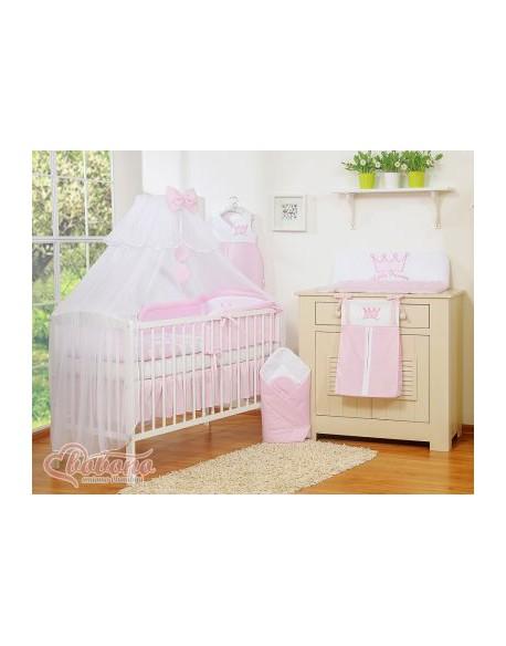 Moskitiera z szyfonu- Little Prince/Princess różowe