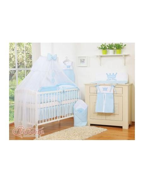 Moskitiera z szyfonu- Little Prince/Princess niebieskie