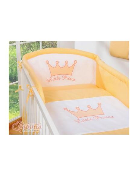 Pościel 2-cz- Little Prince/Princess brzoskwiniowe