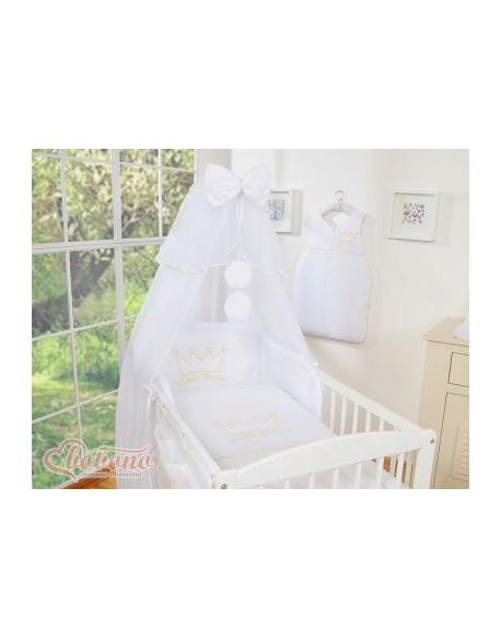 Pościel 5-cz z moskitierą- Little Prince/Princess białe