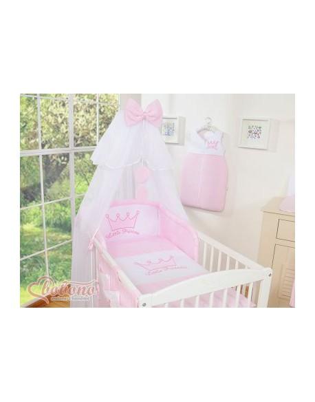 Pościel 5-cz z moskitierą- Little Prince/Princess różowe