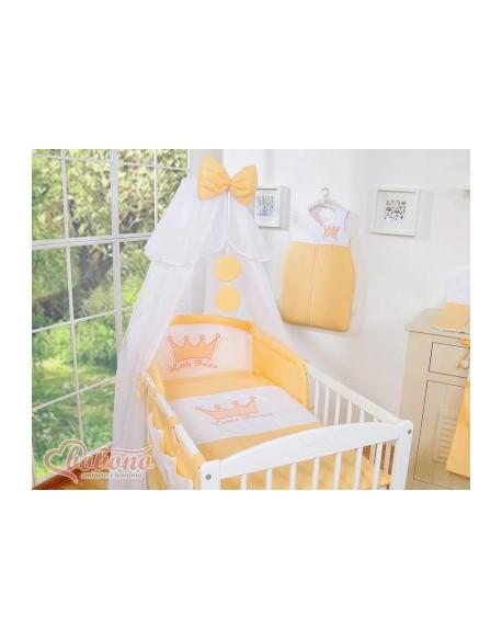 Pościel 5-cz z moskitierą- Little Prince/Princess brzoskwiniowe