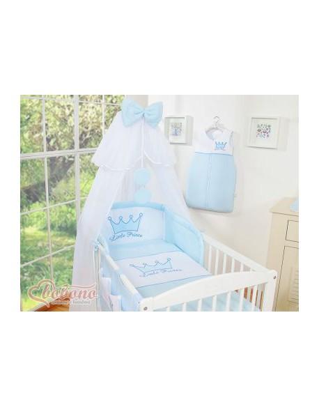 Pościel 5-cz z moskitierą- Little Prince/Princess niebieska