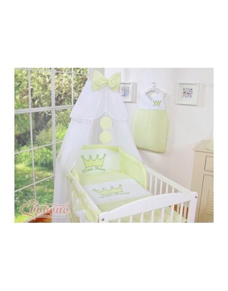 Pościel 5-cz z moskitierą- Little Prince/Princess zielona