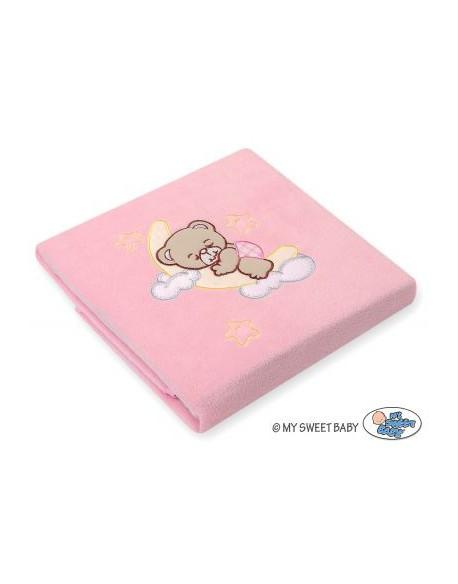Kocyk polarowy- Dobranoc różowe