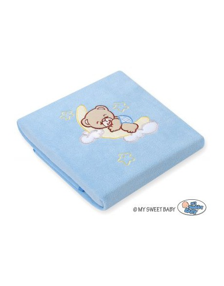 Kocyk polarowy- Dobranoc niebieskie