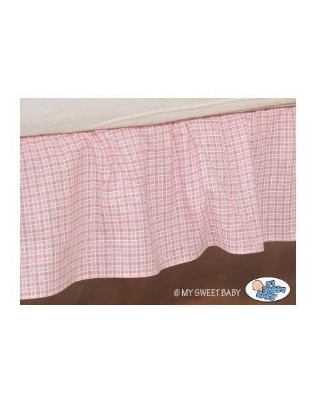 Falbanka maskująca 140x70cm- Dobranoc różowe