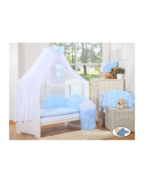 Pościel 5-cz z moskitierą- Chic jasno niebieski