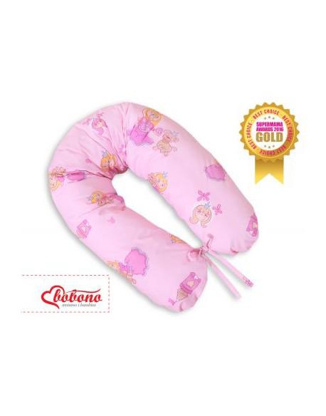 Poduszka ciążowa Longer- Księżniczki różowe