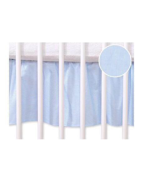 Falbanka maskująca 120x60cm- Wiszące serduszka paseczki niebieskie