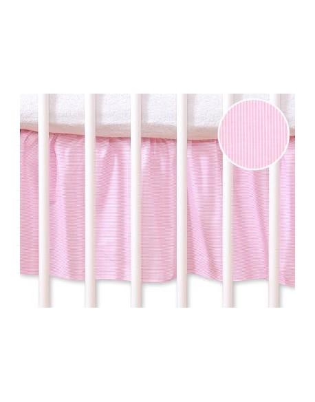 Falbanka maskująca 120x60cm- Wiszące serduszka paseczki różowe