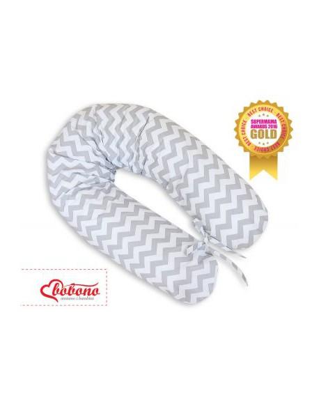 Poduszka ciążowa Longer- Simple chevron szary