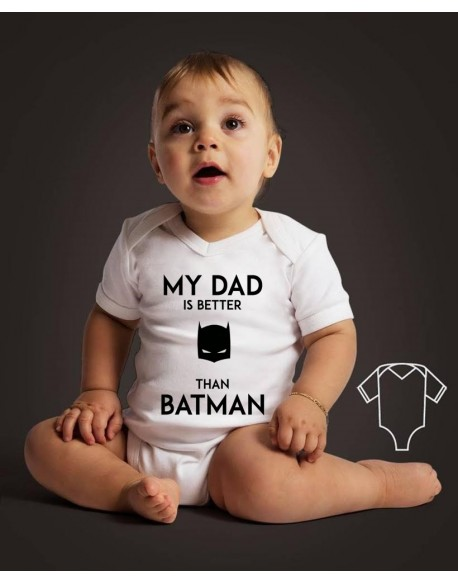 Body/koszulka z nadrukiem My dad is better than Batman