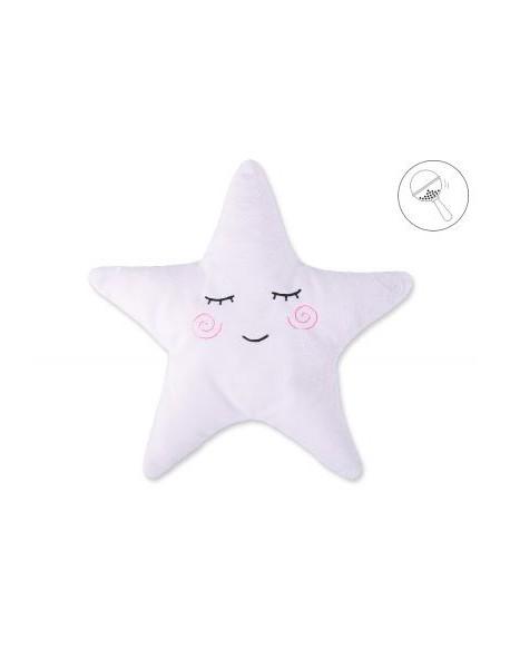Poduszka Little STAR z grzechotką- biała