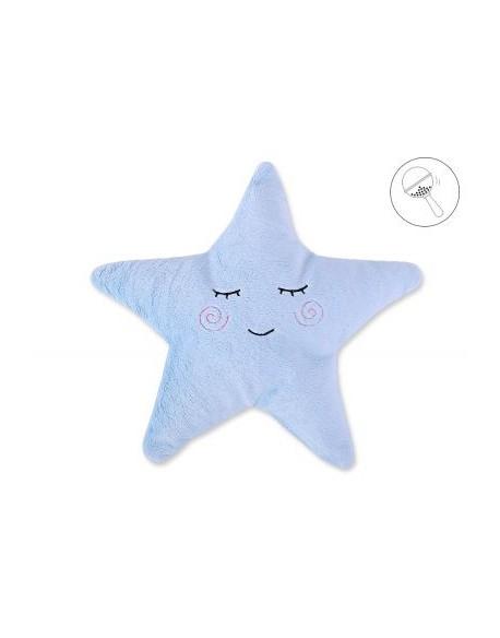 Poduszka Little STAR z grzechotką- niebieska