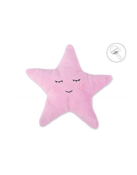 Poduszka Little STAR z grzechotką- różowa
