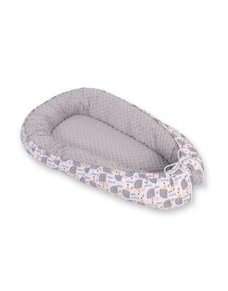 Kokon/ kojec dla niemowląt minky - jeżyki szare