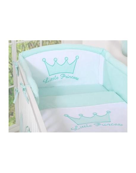 Ochraniacz uniwersalny 120x60cm- Little Prince/Princess miętowy