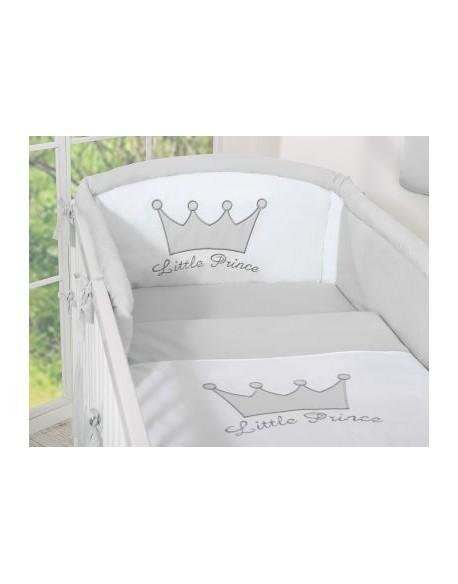 Ochraniacz uniwersalny 120x60cm- Little Prince/Princess szary