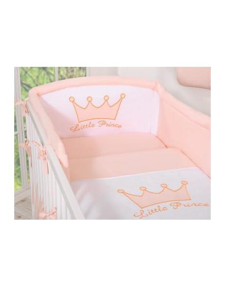 Pościel 3-cz- Little Prince/Princess pudrowy róż