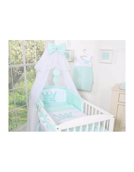 Pościel 5-cz z moskitierą- Little Prince/Princess miętowy