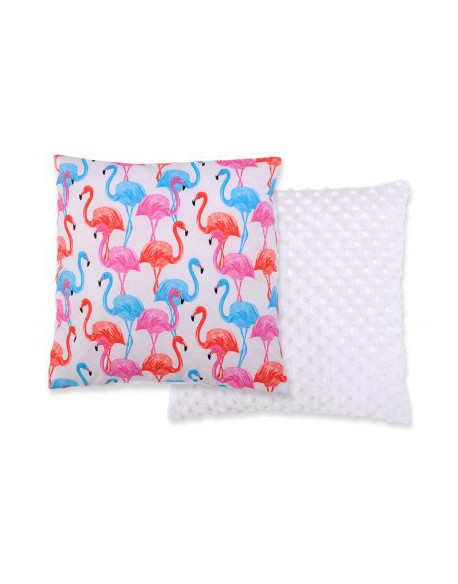 Poduszka dwustronna -flamingi