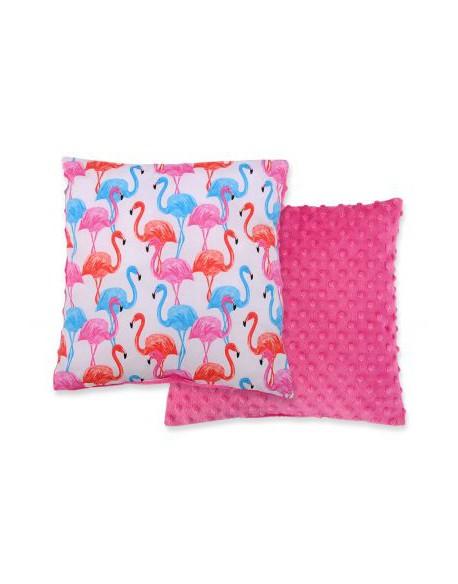 Poduszka dwustronna - flamingi