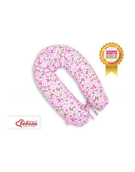 Poduszka ciążowa longer- motylki różowe