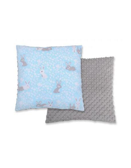 Poduszka dwustronna - króliczki niebieskie