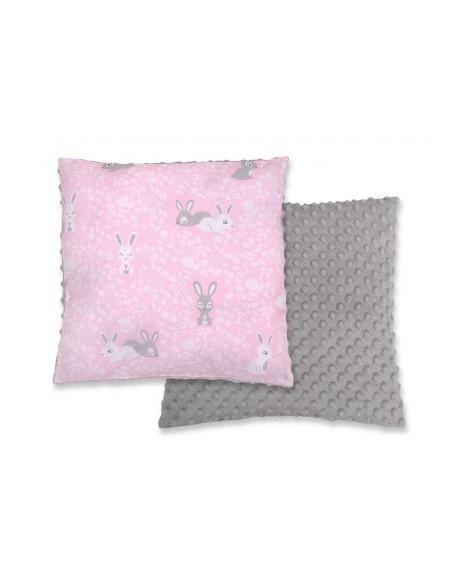 Poduszka dwustronna - króliczki różowe