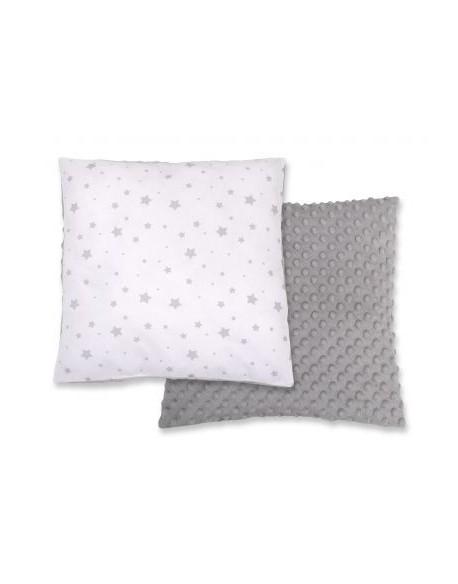 Poduszka dwustronna - mini gwiazdki szare na białym tle