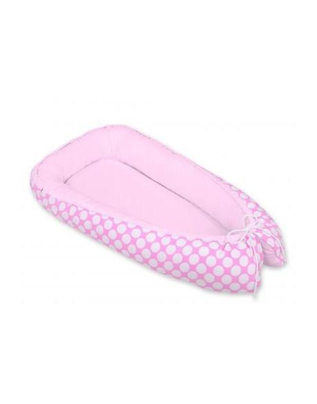 Kokon/ kojec niemowlęcy- kółeczka różowe/różowy