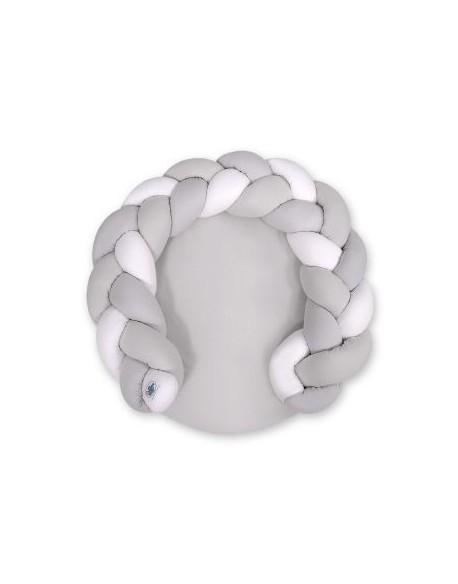 Gniazdko dla niemowląt/ mata do zabawy 2 w 1 - biały-szary