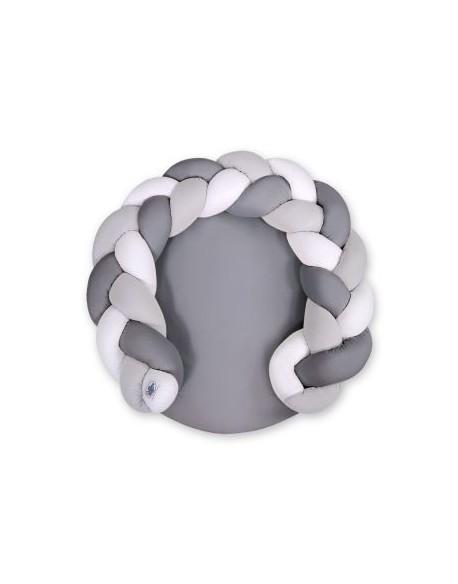 Gniazdko dla niemowląt/ mata do zabawy 2 w 1 - biały-szary-antracyt