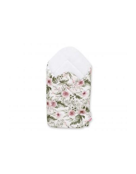 Rożek miękki - peonie różowe/biały