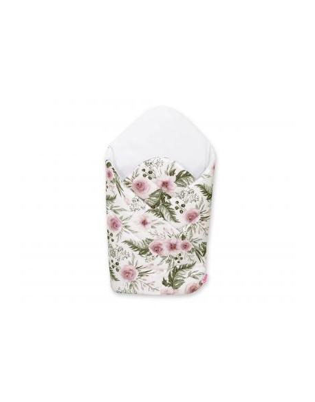 Rożek usztywniany - peonie różowe/biały